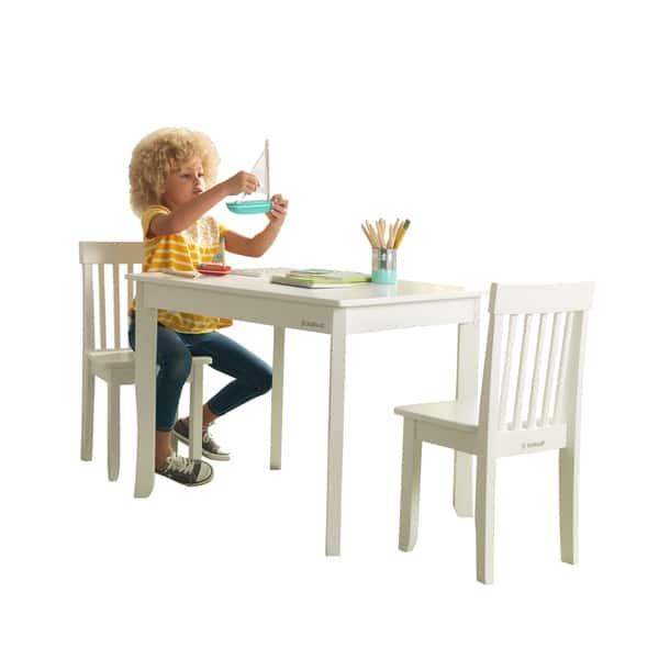 Phenomenal Shop Kidkraft Avalon Table Ii 2 Chair Set White Free Andrewgaddart Wooden Chair Designs For Living Room Andrewgaddartcom