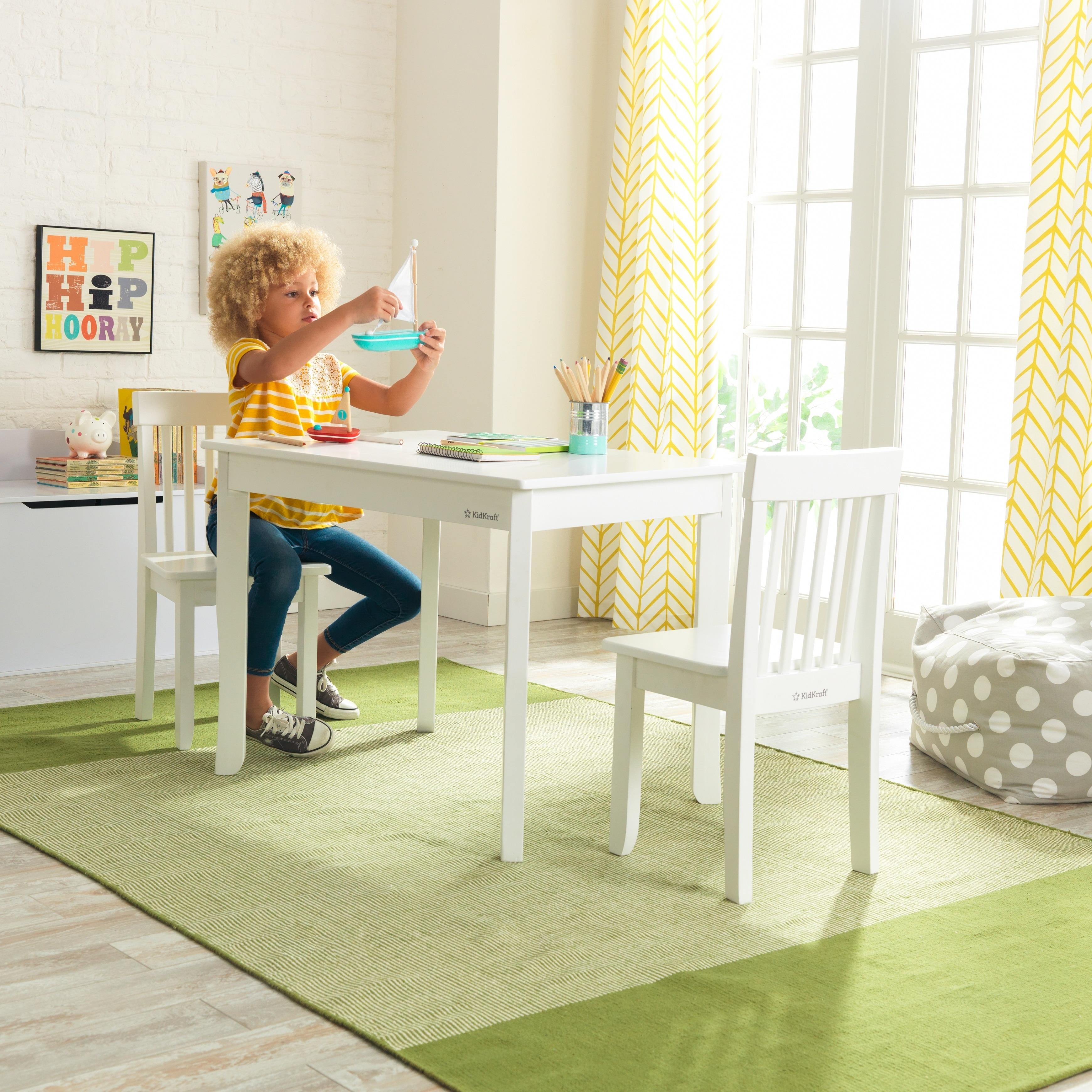 Excellent Kidkraft Avalon Table Ii 2 Chair Set White Ncnpc Chair Design For Home Ncnpcorg