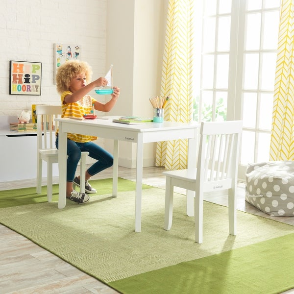 Kidkraft Round Table And 2 Chair Set Whitenatural.Shop Kidkraft Avalon Table Ii 2 Chair Set White Free