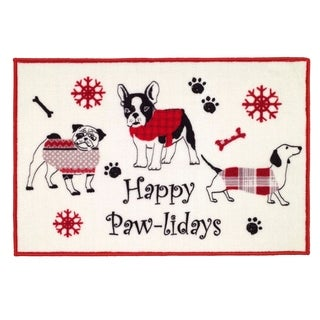 Happy Pawlidays Rug - 20 x 30