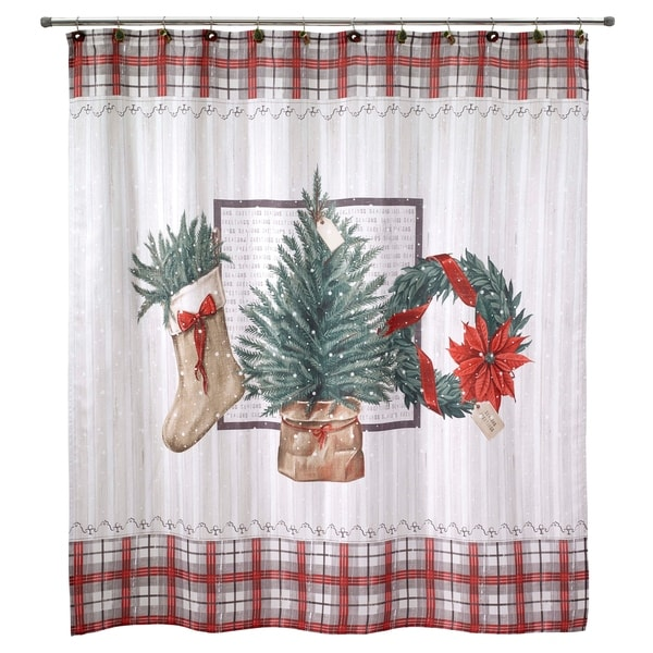 Shop Farmhouse Holiday Shower Curtain Multi Free