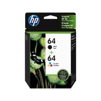 Original  HP 64/64   Black & Tri-color Ink Cartridges,X4D92AN, 2-Pack