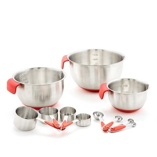 11 Pc. Mixing Bowl, Measuring Cup & Measuring Spoon Set