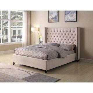 Best Master Furniture High Profile Upholstered Tufted Bed