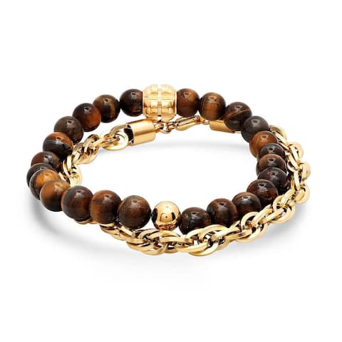 2f3a389fc1387 Tigers Eye Bracelets | Find Great Jewelry Deals Shopping at Overstock