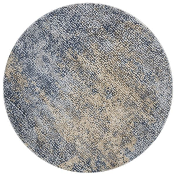 Gold Pebble Mosaic Round Rug