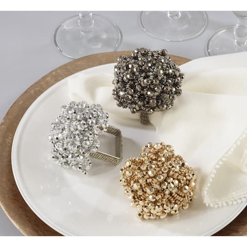 Napkin Ring Holders With Chunky Beads Design (Set of 4)