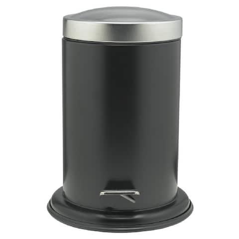 Sealskin Small Bathroom Step Trash Can Acero Black