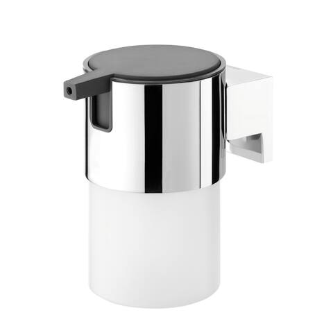 Tiger Soap Dispenser Bold Frosted Glass And Chrome Metal