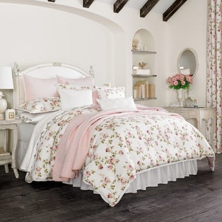 Five Queens Court Rosalind Floral 100% Cotton 4 Piece Comforter Set