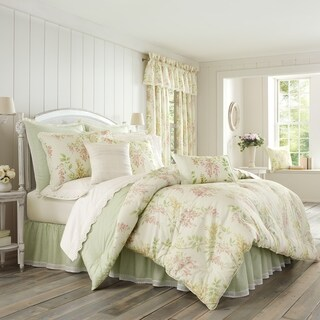 Five Queens Court Weatherly Floral 100% Cotton 4 Piece Comforter Set