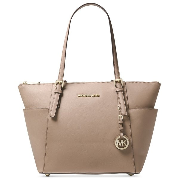 Elegant Michael Kors Nylon Kelsey Medium Zip Truffle