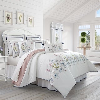 Five Queens Court Brenda Embroidered Floral 4 Piece Comforter Set