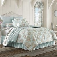 Five Queens Court Harper Floral Cotton 4 Piece Comforter Set