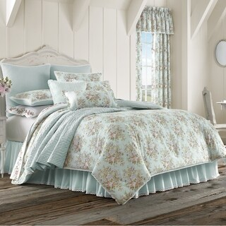 Five Queens Court Harper Floral 100% Cotton 4 Piece Comforter Set