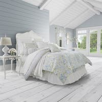 Five Queens Court Flora Floral 100% Cotton 4 Piece Comforter Set