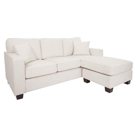 Copper Grove Slavutych Ivory Sectional with Coffee Legs