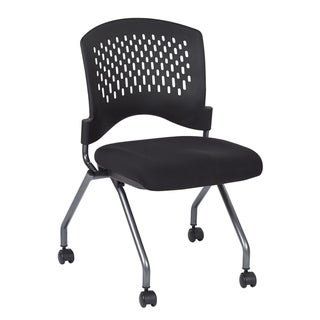 Link to Deluxe Armless Folding Chair with Ventilated Plastic Wrap Around Back (2-Pack). Similar Items in Home Office Furniture