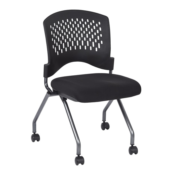 Deluxe Armless Folding Chair with Ventilated Plastic Wrap Around Back (2-Pack).. Opens flyout.