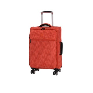 it luggage Stitched Squares 21.5-inch Lightweight Expandable Carry On Spinner Suitcase