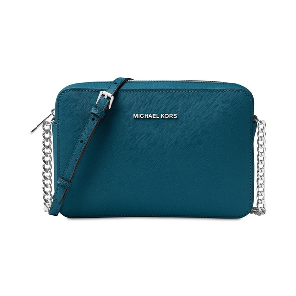 6fc7f2c1687175 Shop MICHAEL Michael Kors Jet Set Travel Large Crossbody Luxe Teal ...