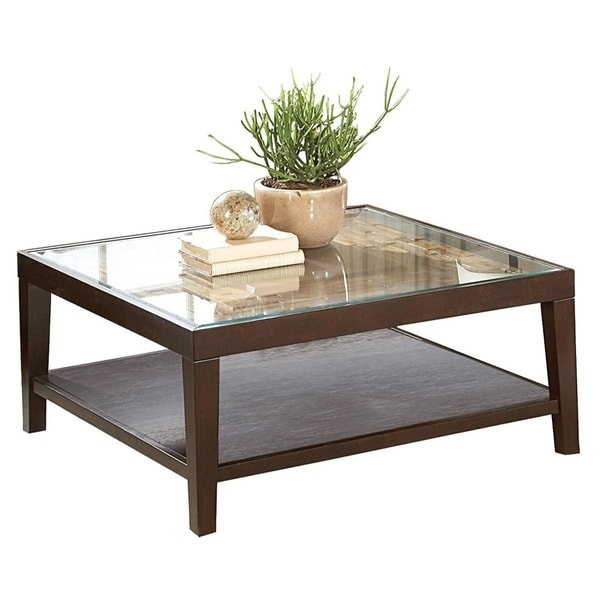 Modern Square Coffee Table With Glass Top: Shop Contemporary Square Cocktail Table With Glass Top And
