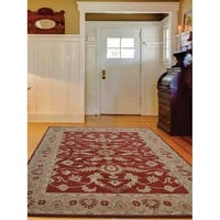 Hand Tufted Wool Area Rug Oriental Red Gold