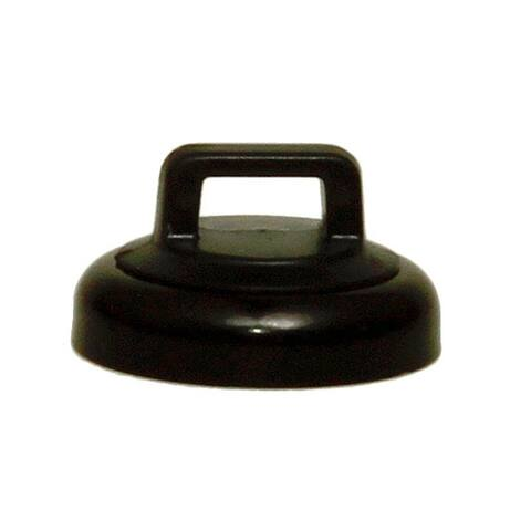 Offex Small Black Magnetic Zip Tie Mount, 10 lbs Pull Strength, 10 Pieces/Bag