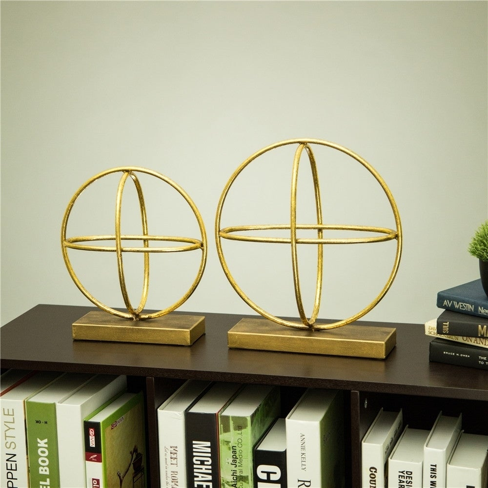 - Shop Glitzhome Glam Accent Brass Painted Sphere Table Decor - On