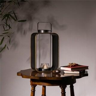 Glitzhome Industrial Metal Hanging Candle Holder Lantern
