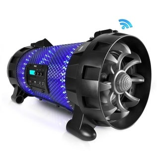 Pyle PBMSPG260L Portable Wireless BoomBox Stereo Rechargeable Speaker System with LED Beats Party Lights, Bluetooth and NFC