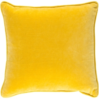 Decorative Vesey Yellow 18-inch Throw Pillow Cover