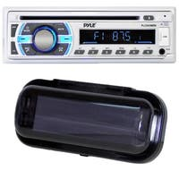 Pyle PLCD43MRB Bluetooth MP3/Aux/USB/SD Card Stereo Radio Receiver with Black Water Resistant Radio Shield