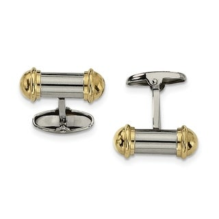 Stainless Steel Yellow IP-plating Cuff Links