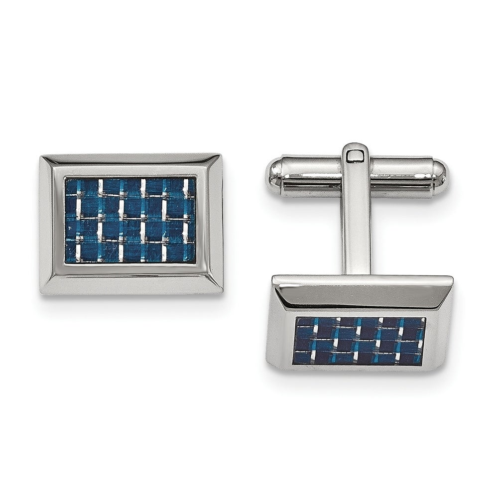 Pittsburgh Panthers Cufflinks Sterling Silver Medium Size Round Top