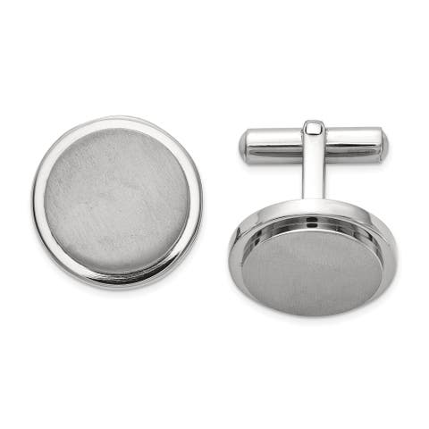 Chisel Titanium Brushed and Polished Cuff Links