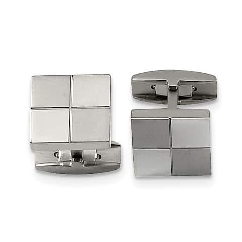 Chisel Titanium Cuff Links