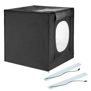 """Square Perfect 24"""" LED Photo Studio In A Box w/4 Color Backdrops"""