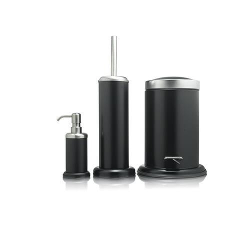 Sealskin 3-Piece Bathroom Accessories Set Acero Black