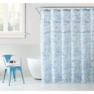 Buy Blue Ikat Shower Curtains Online At Overstock