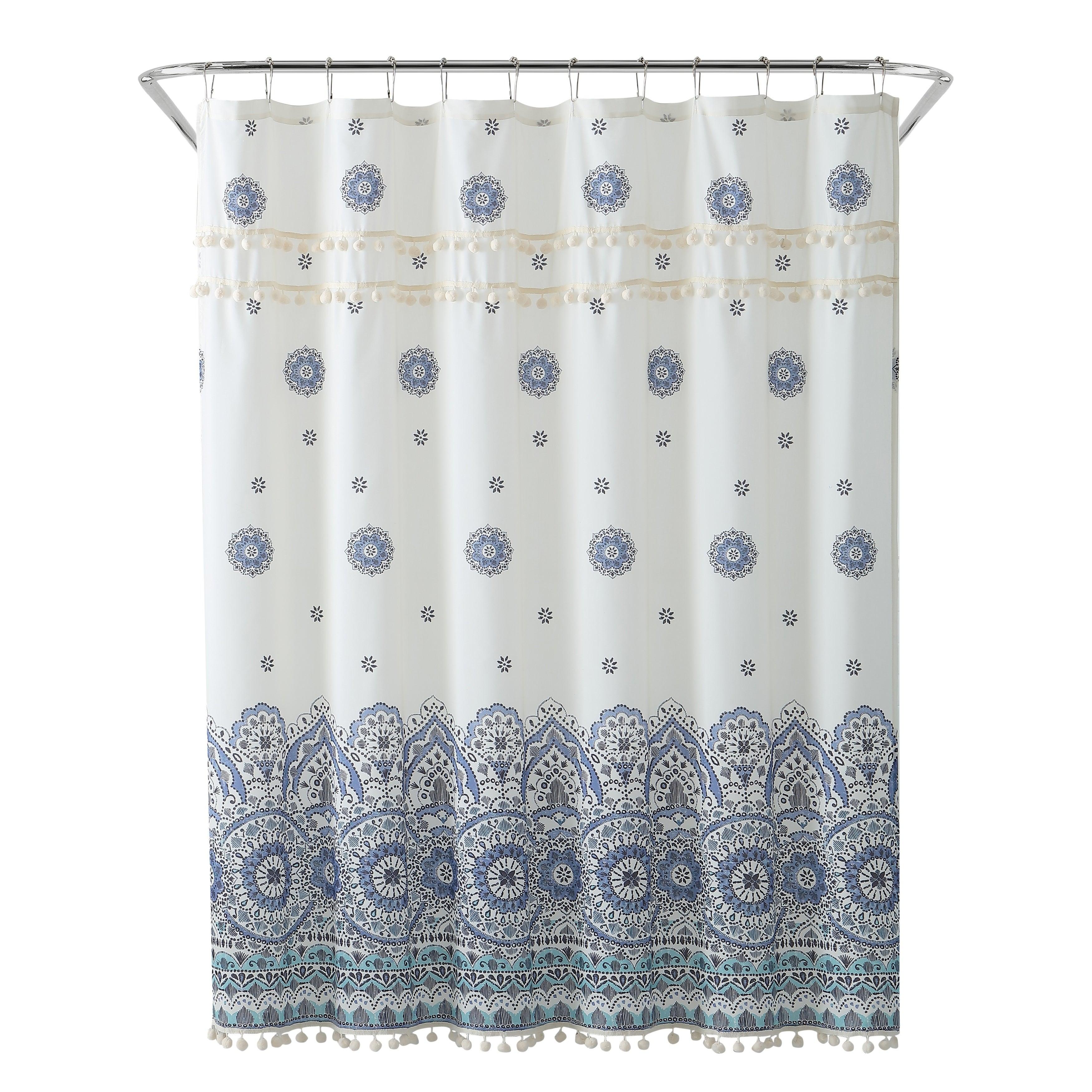 Shop Black Friday Deals On Peach Oak Shower Curtain Overstock 23477393