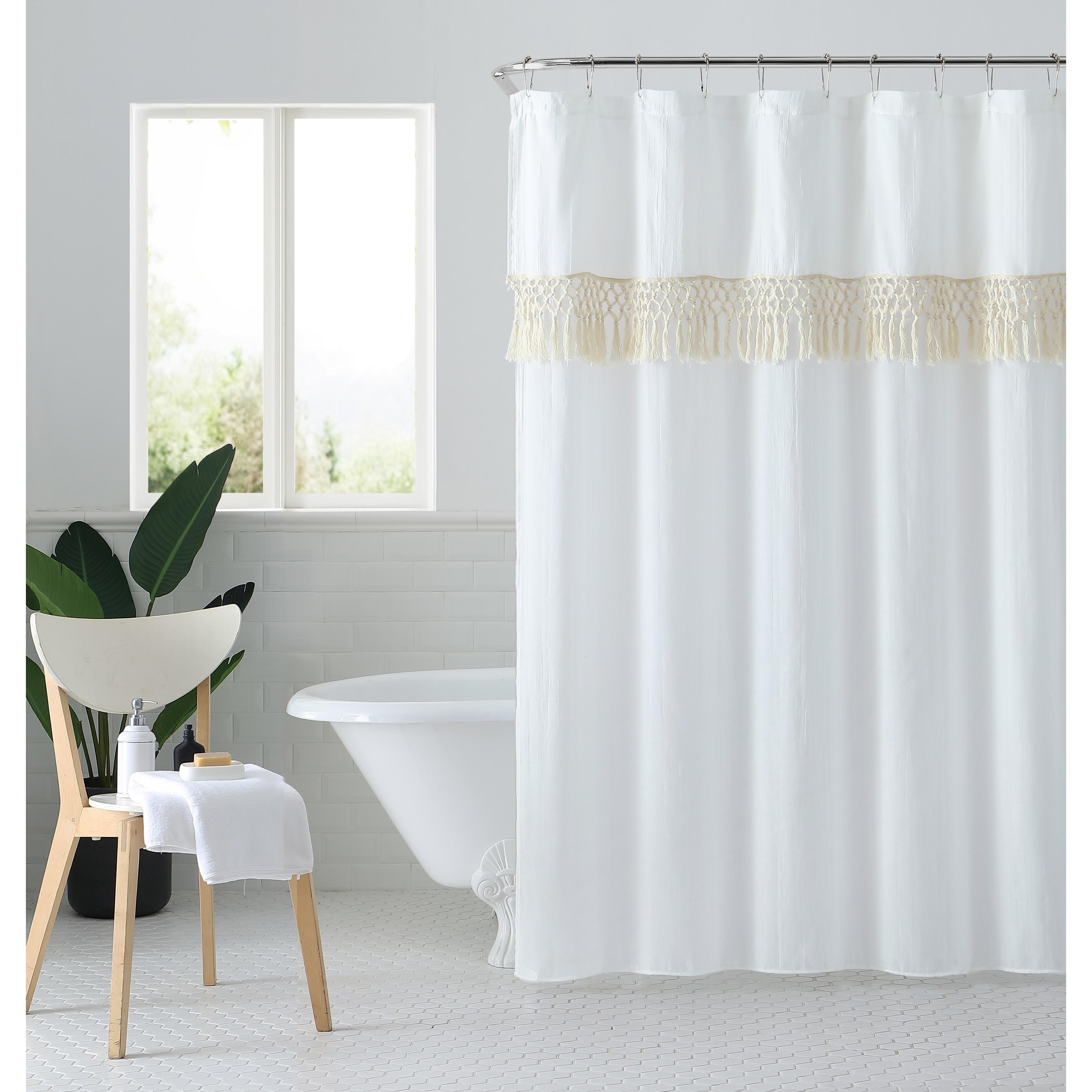 Shop Black Friday Deals On Peach Oak Lydia Shower Curtain Overstock 23477401
