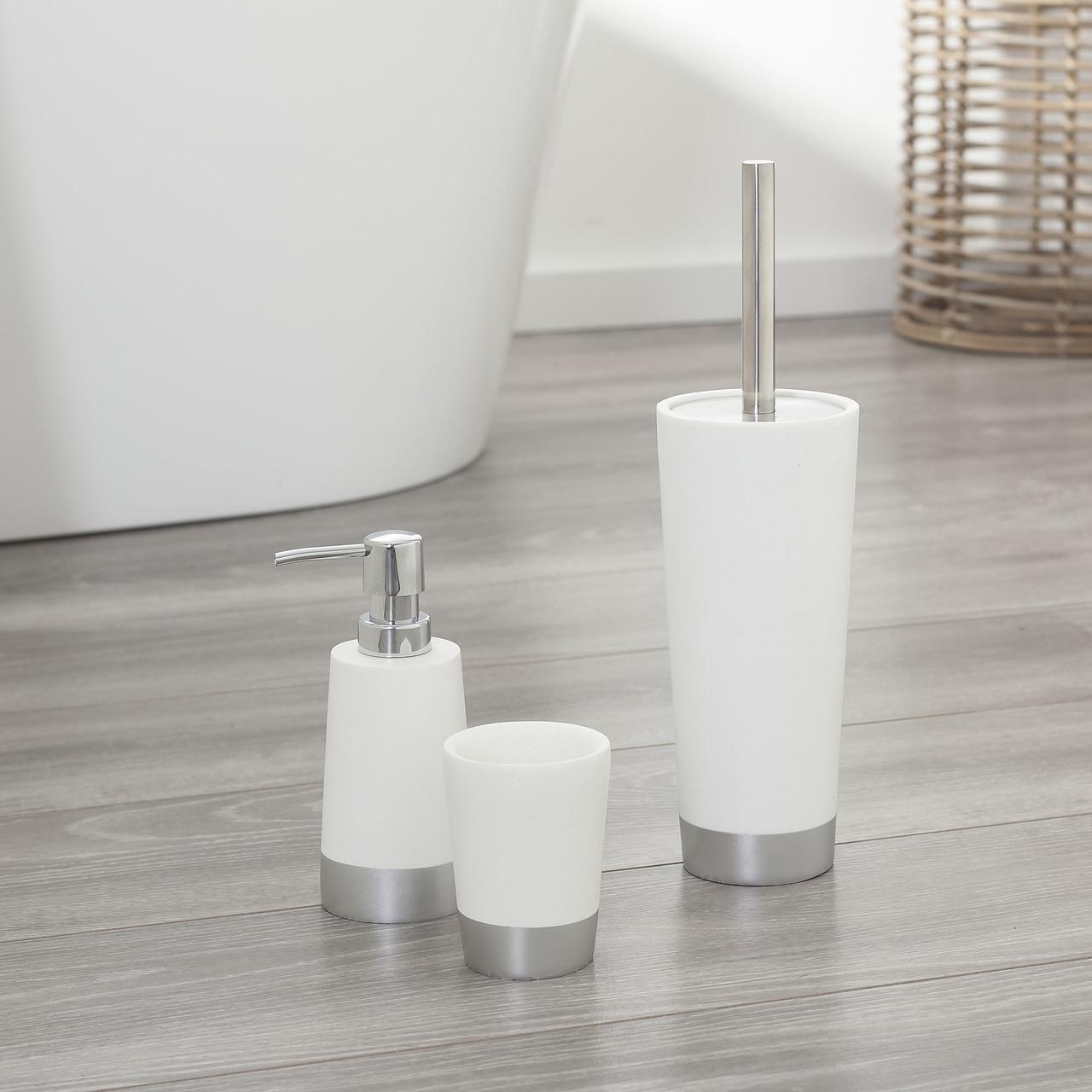 Bathroom Accessories Set Glossy White