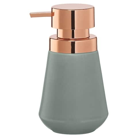 Sealskin Countertop Soap And Lotion Dispenser Conical Copper Green Porcelain