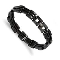 Chisel Stainless Steel Black IP-plated Bracelet