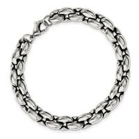 Chisel Stainless Steel Polished Ovals 8.25 Inch Bracelet