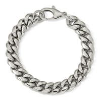 Chisel Stainless Steel Polished 8.5 Inch Curb Chain Bracelet