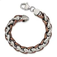 Chisel Stainless Steel Polished Brown IP-plated 8.25 Inch Bracelet - china