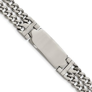 Chisel Stainless Steel Polished Adjustable 7.75 Inch with 1/2 Inch Extension ID Bracelet - china