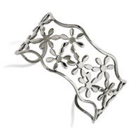 Chisel Stainless Steel Flowers Cuff Bangle - china
